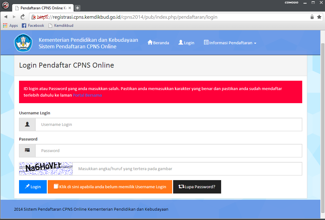 Solusi Lupa Password dan Belum Mendapatkan Password di Pendaftaran CPNS Portal Panselnas 3