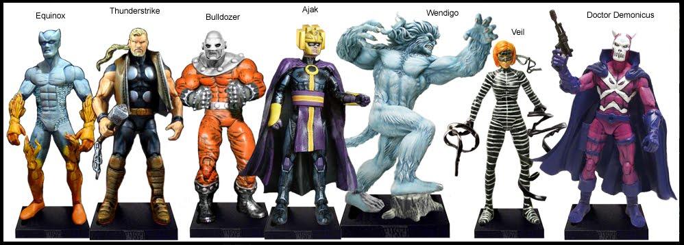 <b>Wave 40</b>: Equinox, Thunderstrike, Bulldozer, Ajak, Wendigo, Veil and Doctor Demonicus