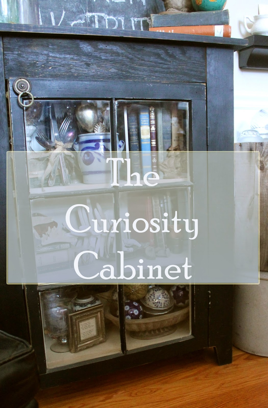 vintage silver, curiosities, starfish, pewter, handmade cabinet