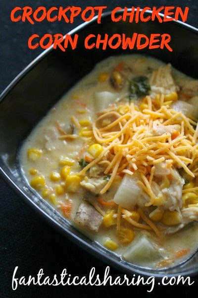 Crockpot Chicken Corn Chowder | The perfect soup for a cool fall night in Crocktober! #soup #crockpot #recipe