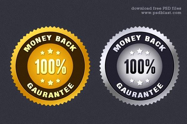 Money Back Guarantee Seal PSD