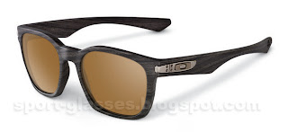 Oakley Garage Rock - 917509 - Woodgrain with Tungsten Iridium Polarized lenses