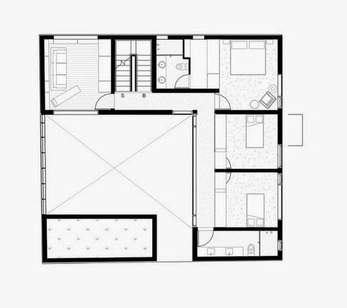 Planos casas modernas plano casas moderna en m xico for Planos de casas con patio interior
