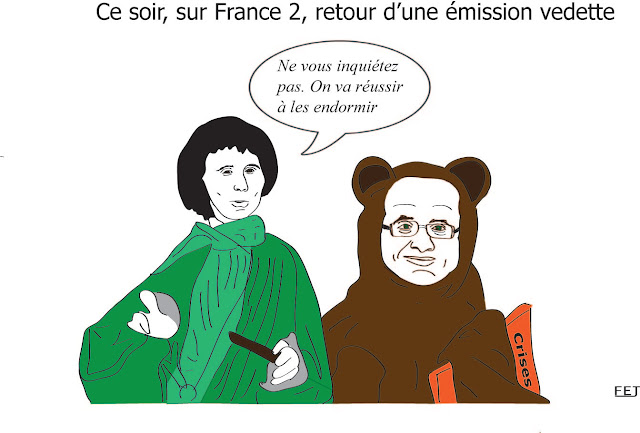 interview de hollande par pujadas fej dessin