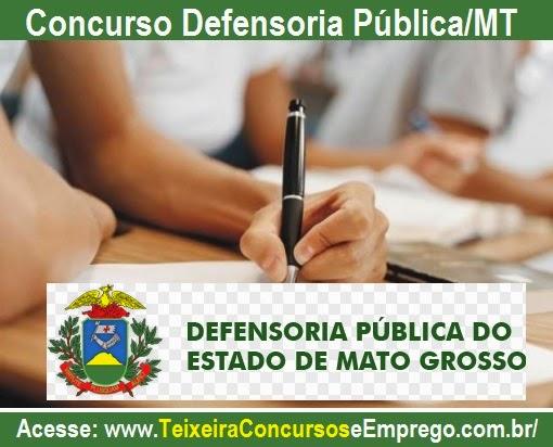 Apostila Concurso Defensoria Pública/MT - Mato Grosso, para cargo de Assistente Administrativo - Edital 2014