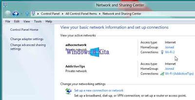 Tutorial Cara Membuat Wireless Ad Hoc Koneksi Internet Pada Windows 8