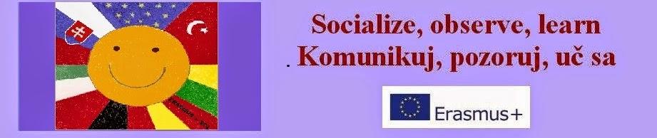 Erasmus +  Socialize, observe, learn