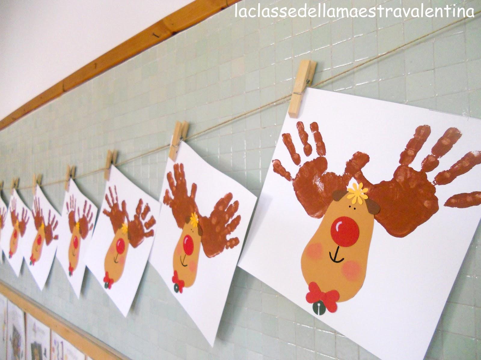 La classe della maestra valentina la renna di babbo natale for Abbellire la classe per natale
