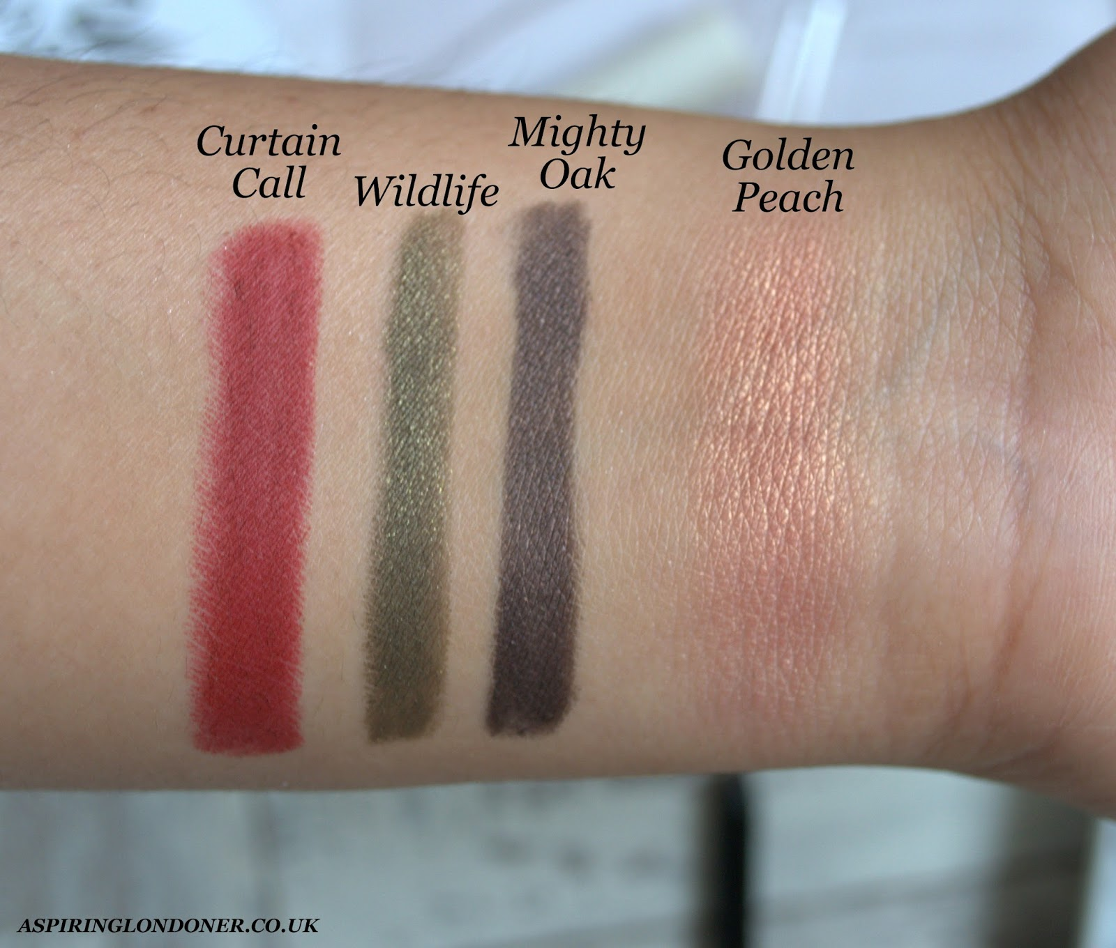 H&M Beauty Lip Pencil Eye Pencil Blush Swatch - Aspiring Londoner