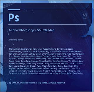 photoshop cs6 serial launching screen