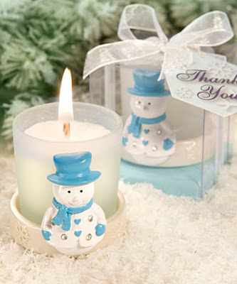 Snowflakes Candles Favors