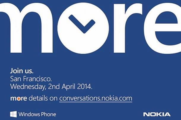Evento da Nokia para o dia 2 de abril