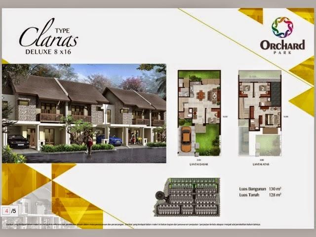 Tipe Rumah Clarias 8x16 Rumah Cluster Durio Orchard Park Batam