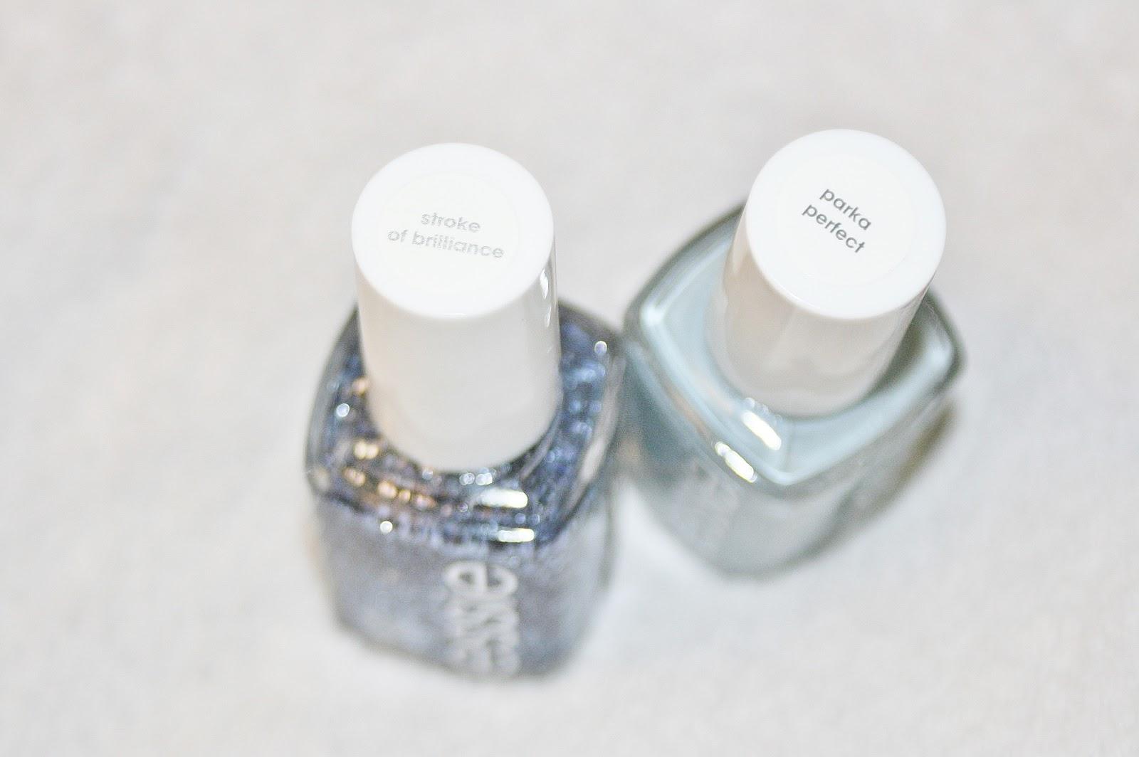 Winter essie nail polishes