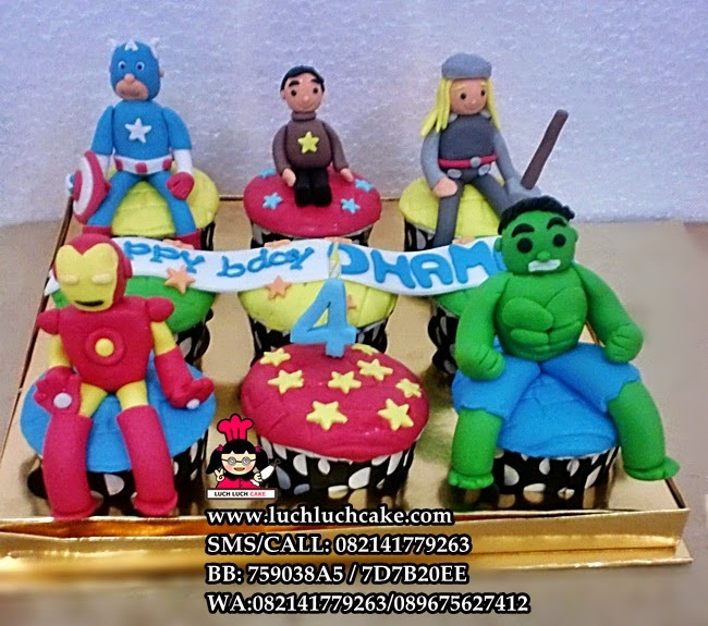 Cupcake Avengers Iron man, hulk, captain america, thor