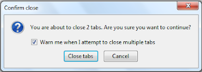 confirm firefox browser multiple tab closing