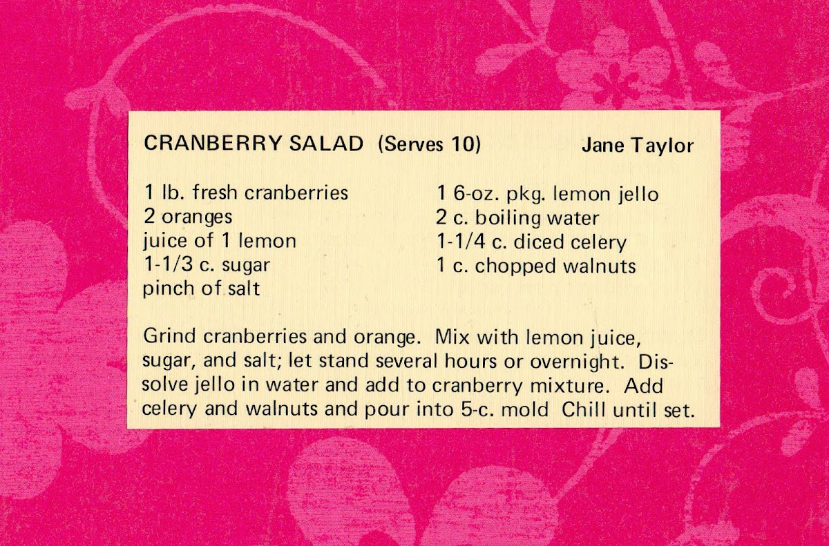 Cranberry Salad (quick recipe)