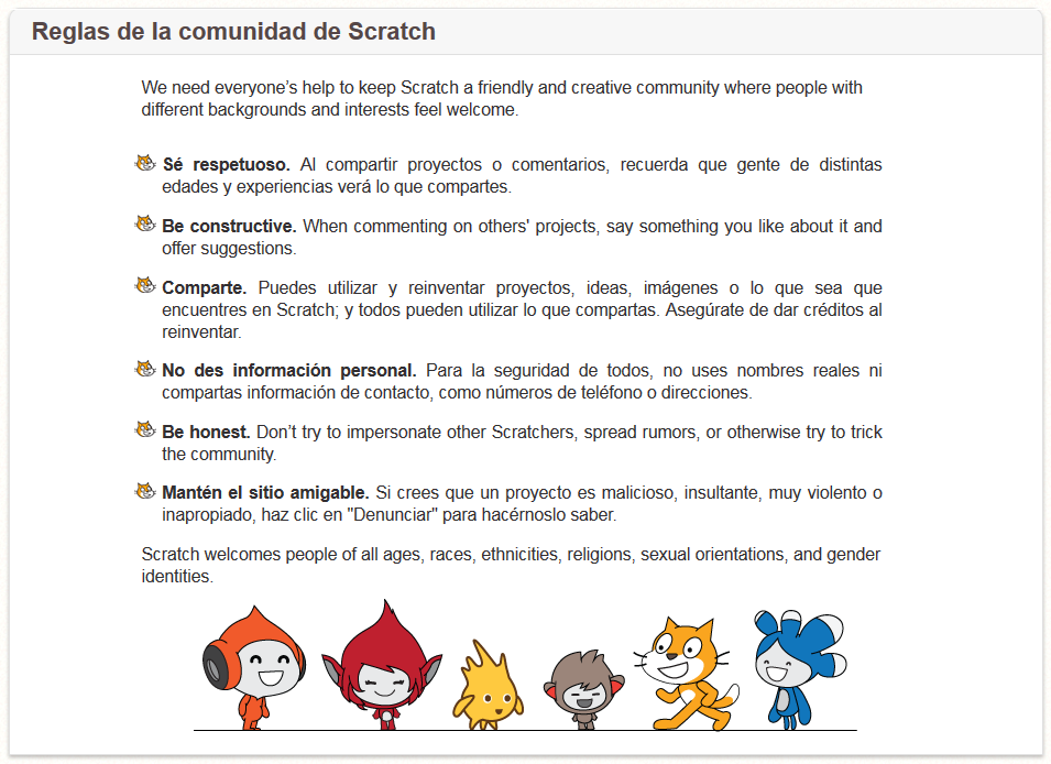 http://scratch.mit.edu/community_guidelines/