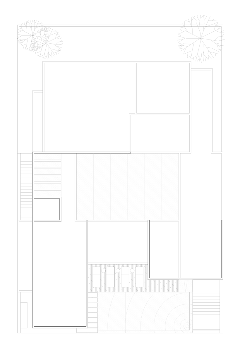 Roof floor plan of Dominant modern mansion by GLR Arquitectos