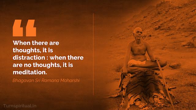 Bhagavan Sri Ramana Maharshi best quotes on silence, meditation, I, self, Happiness, God, Grace - HD wallpapers - Turnspiritual