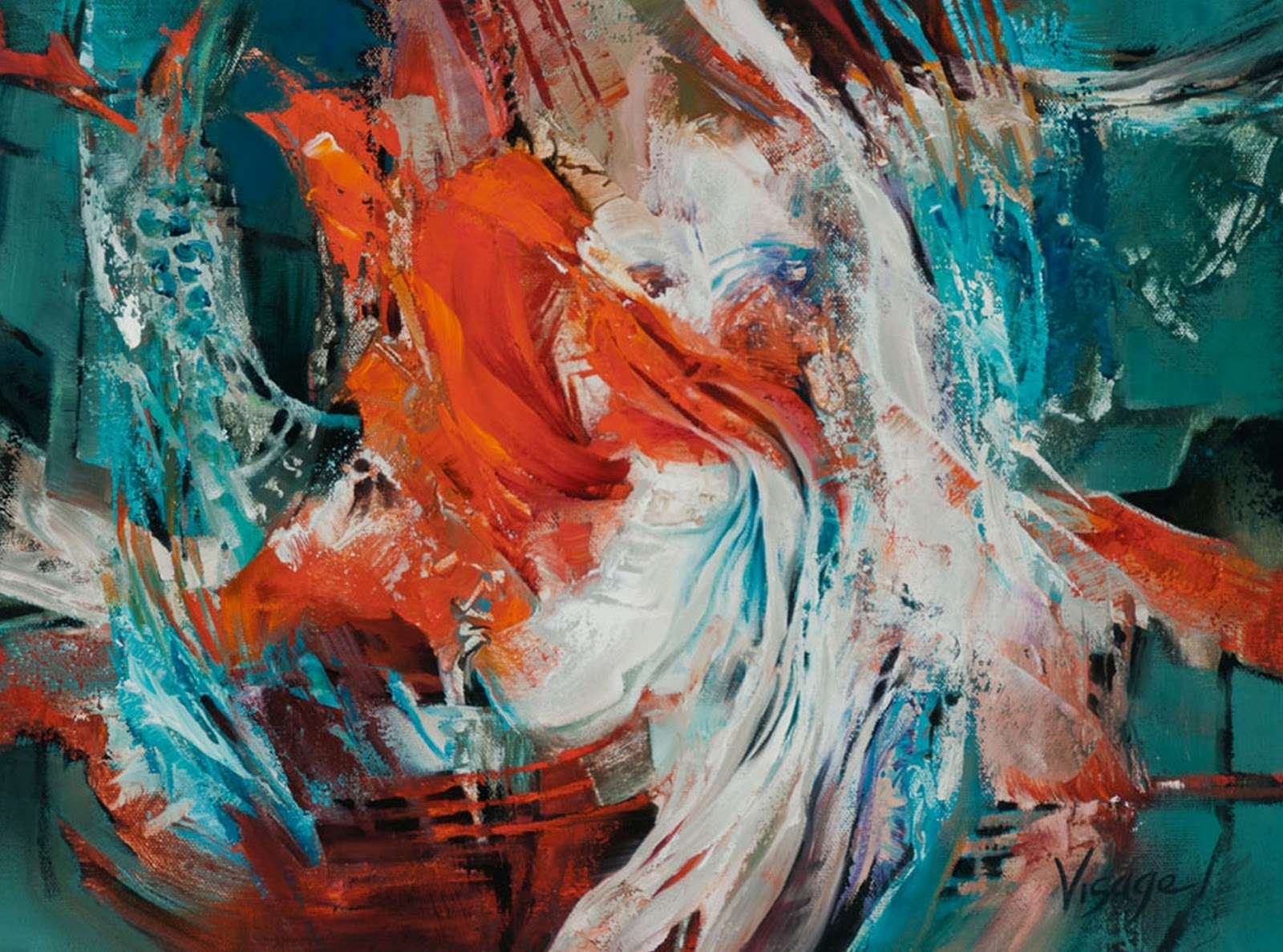 Cuadros modernos pinturas y dibujos pintura abstracta al for Fotos de cuadros abstractos al oleo