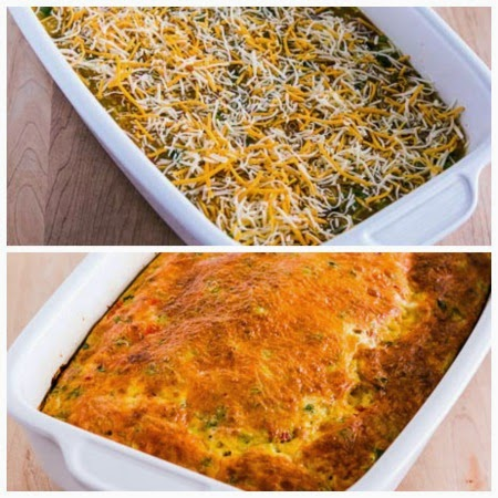 Easy Low-Carb Southwest Egg Casserole found on KalynsKitchen.com