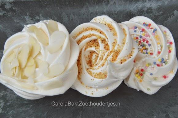 schuimpjes merengues versieren