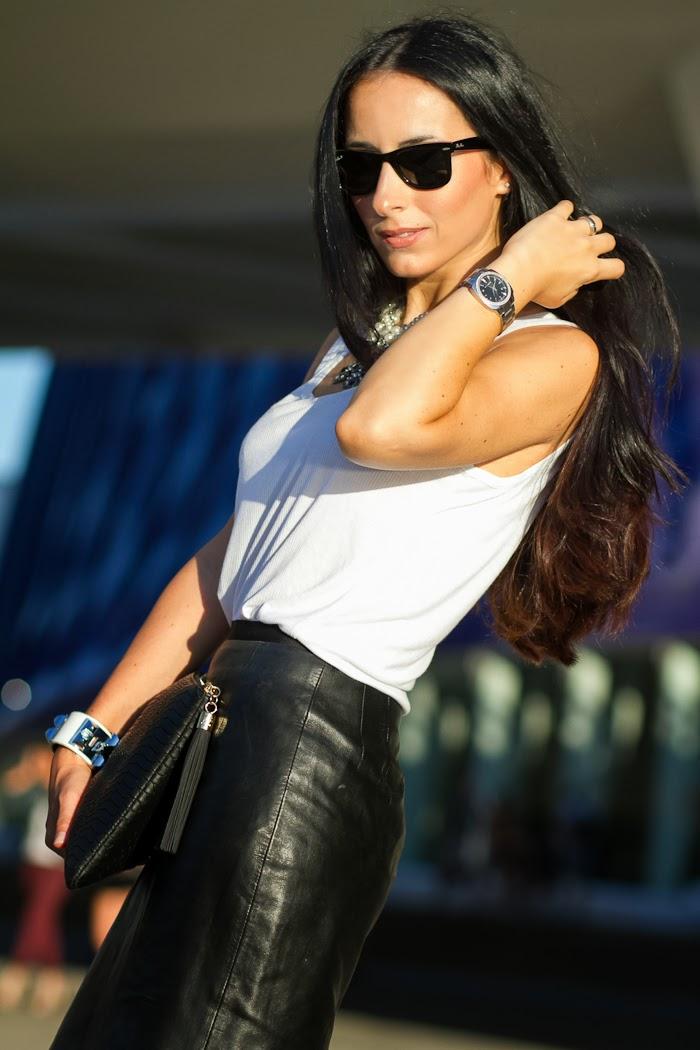 La blogger Withorwithoutshoes en la Valencia Fashion Week