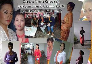 Peringatan RA.Kartini ke 134 tahun 2013 di Kelurahan koya timur