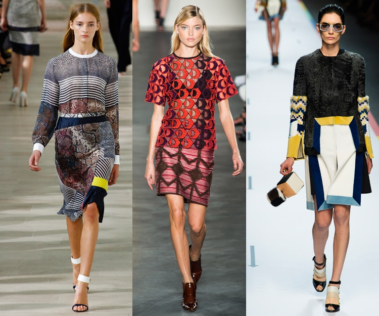 mixed prints spring trend