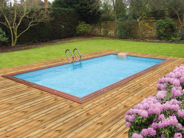 terrasse bois autour piscine[R