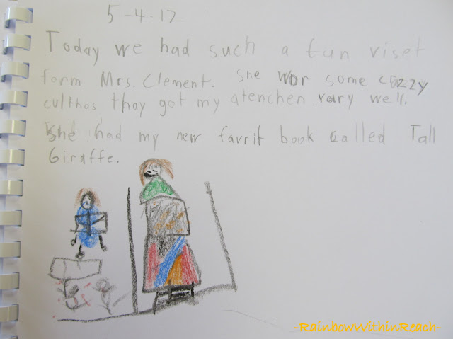 photo of: Kindergarten Journal Writing following Author-Illustrator School Visit