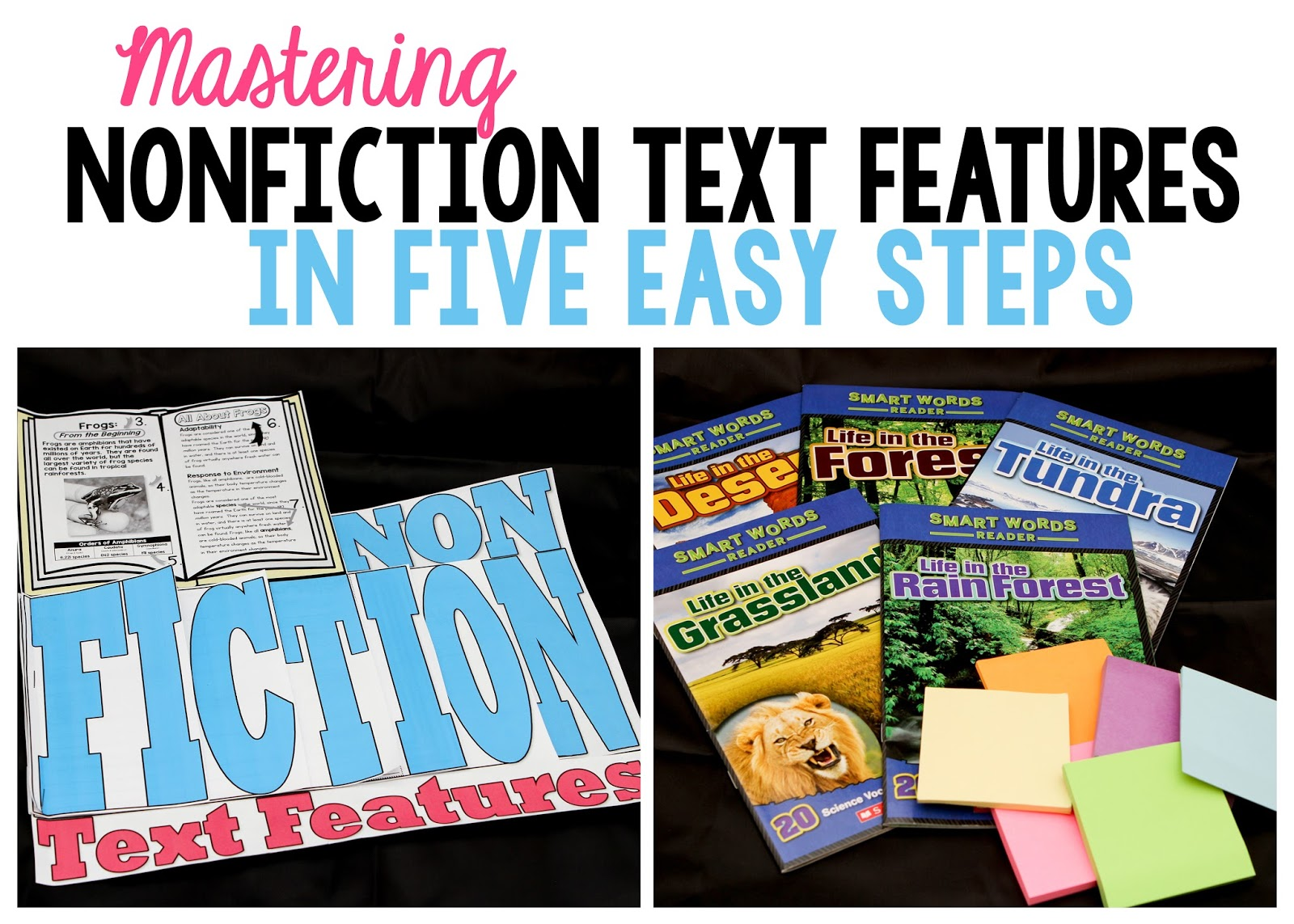 Workbooks text features reading comprehension worksheets : Nonfiction Text Features Mastered in 5 Easy Steps - Simply Skilled ...