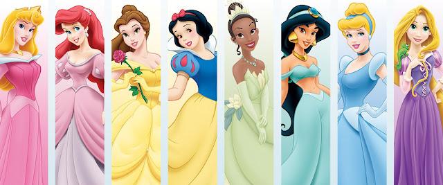 Desenho Princesas Disney coloridos