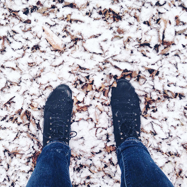 It's finally snowing in the mid-west!