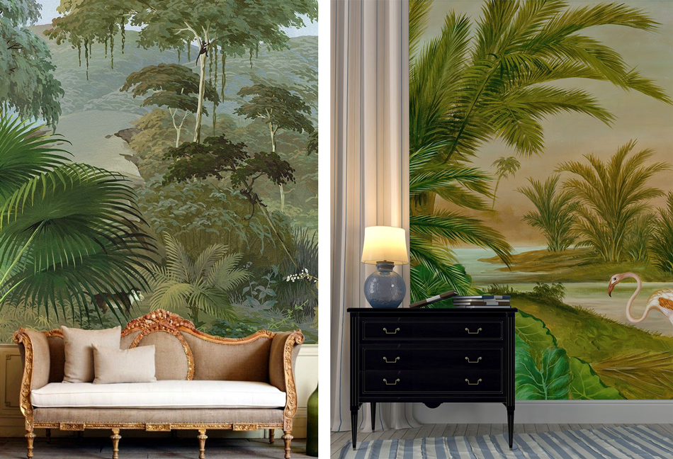 la fabrique d co tendance d co murs tropicaux et jungle d 39 int rieur. Black Bedroom Furniture Sets. Home Design Ideas