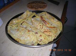 crepes salate  farcite con  prosciutto crudo  e fontina