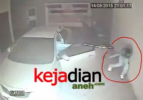 Aksi Heroik Polisi Tembak 3 Perampok Di Rumahnya