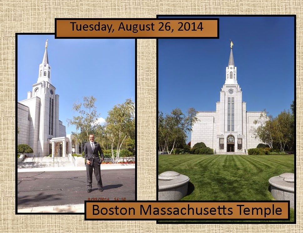 August 26, 2014 Boston Temple