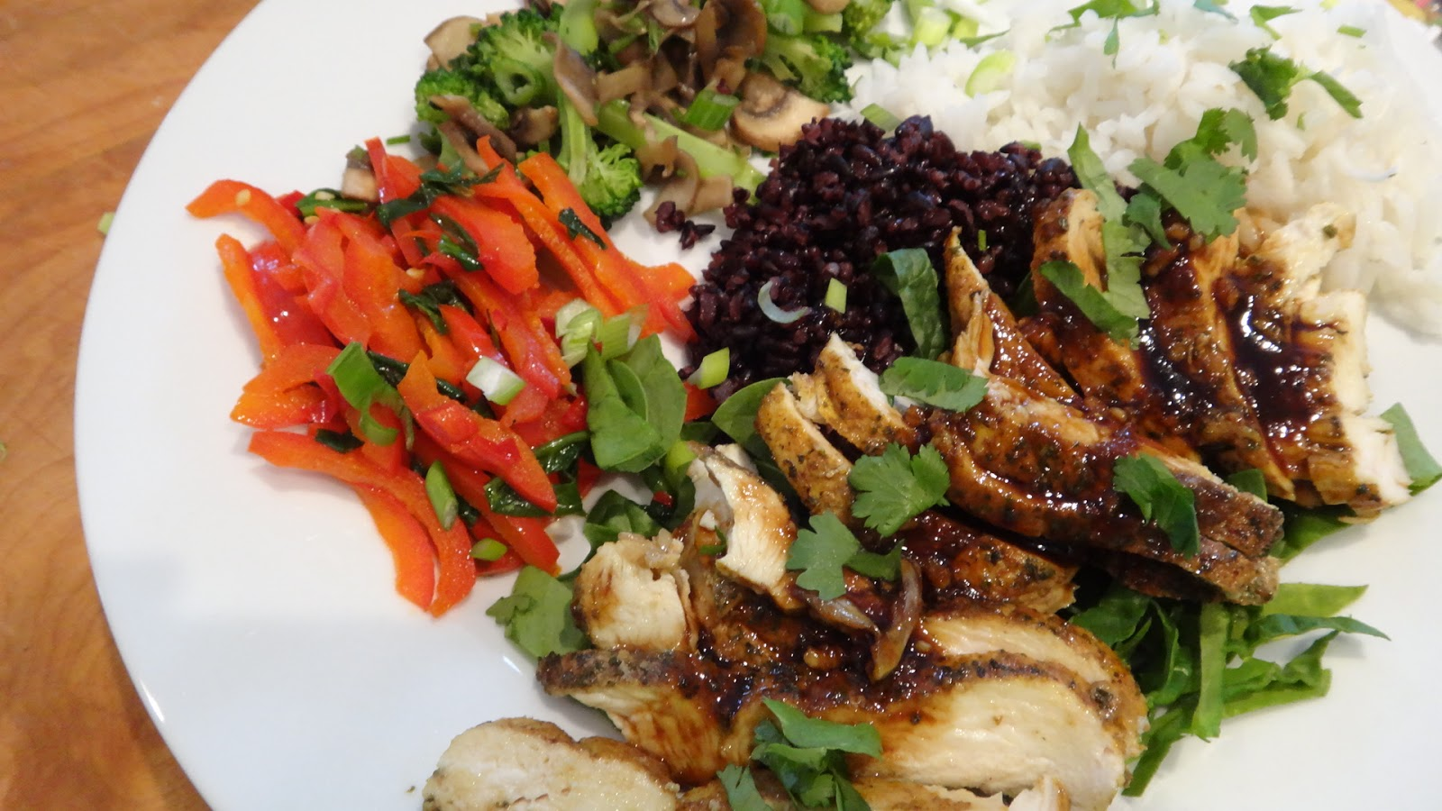this is a chicken teriyaki made with quick cooking chicken breast and ...