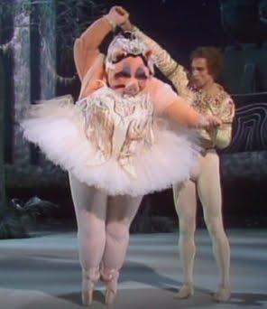 Miss Piggy och Rudolf Nurejev.