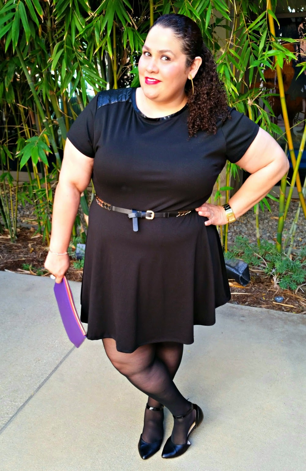 LBD, ootd, plus size dress, outfit, clothes hoardig