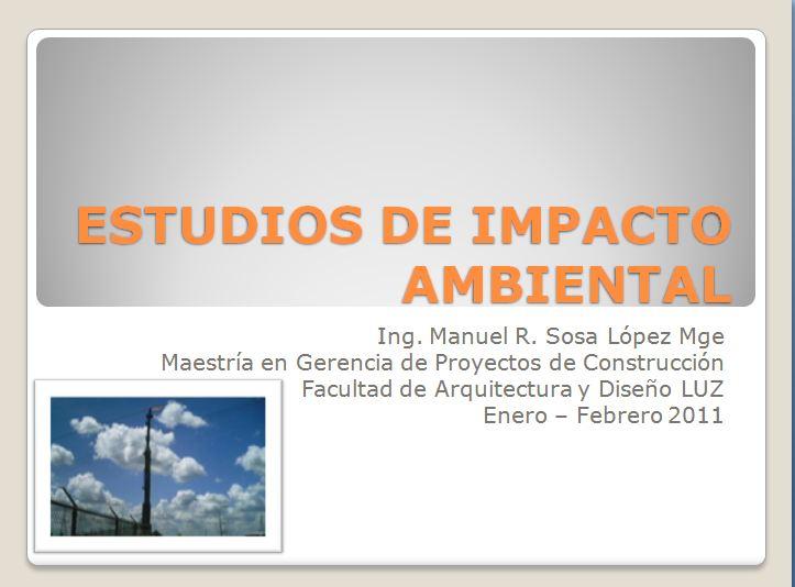 estudios ambiental:
