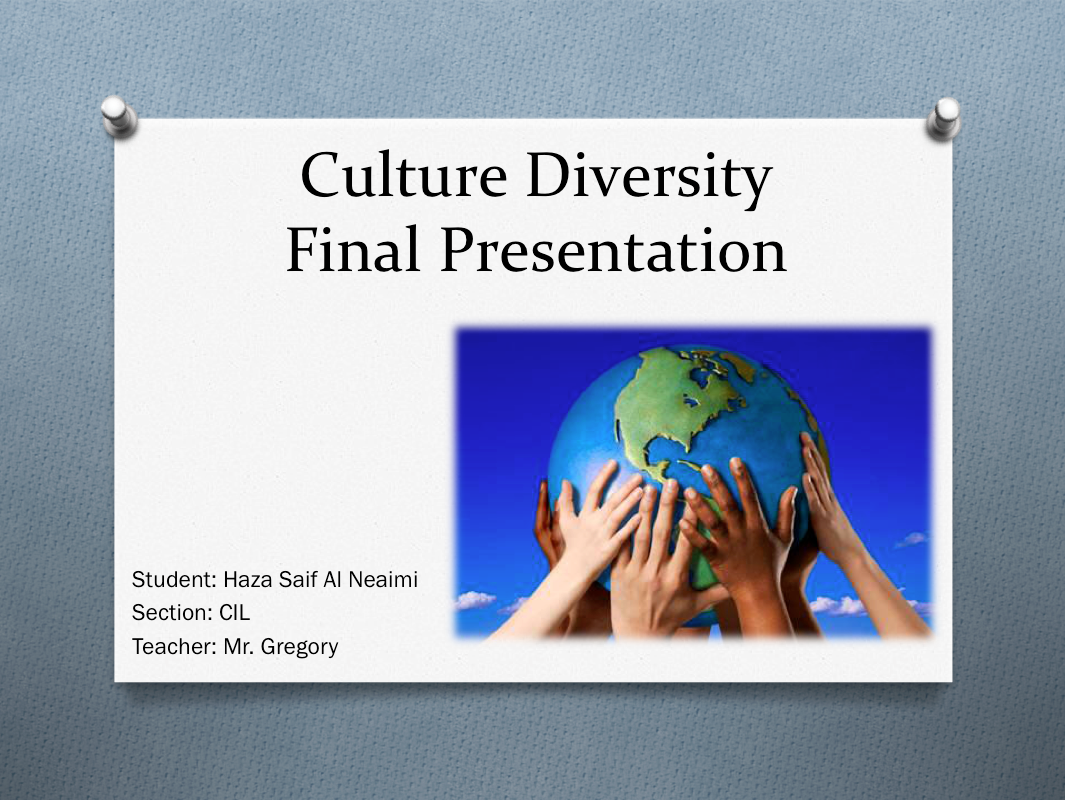 cultural diversity todays teacher Previous to this work, she was a high school spanish teacher dr  does not begin to capture the cultural diversity that actually exists,.
