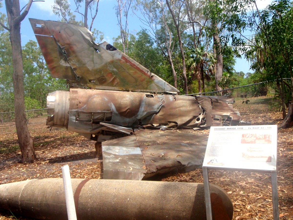 remains of a mirage aircarft this crashed after pilot ejected due to