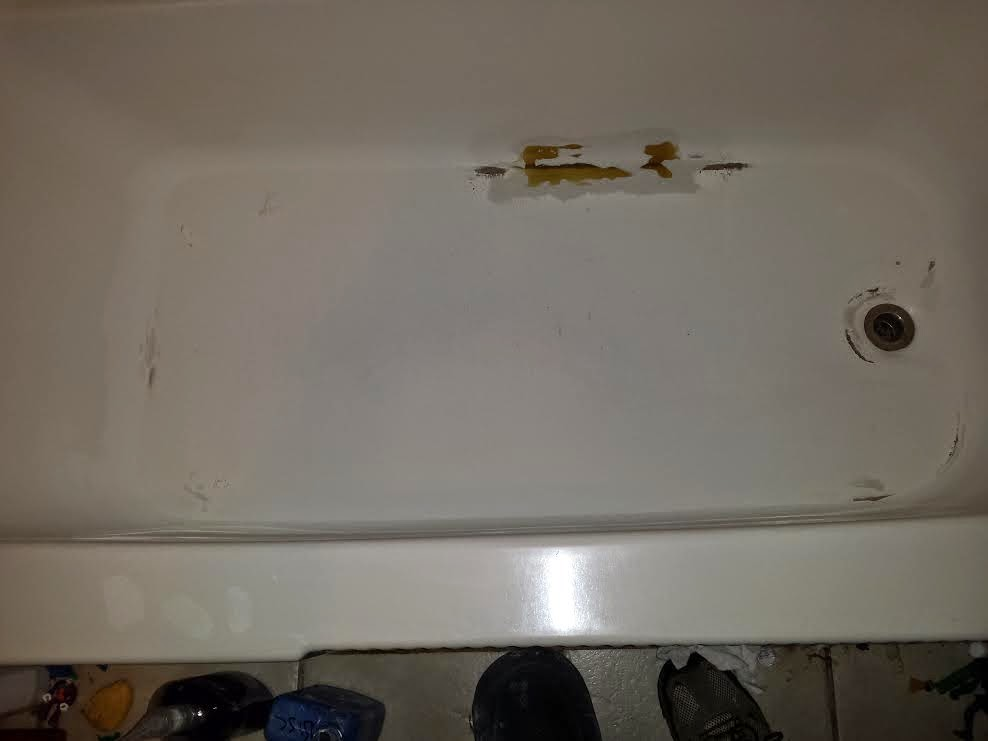 Fiberglass repair bathtub home improvement for Bathtub repair
