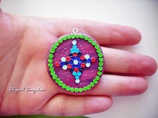 polymer clay, pendant, handmade,