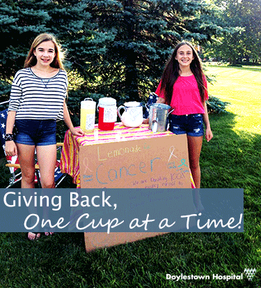 lemonade stand giving to cancer institute