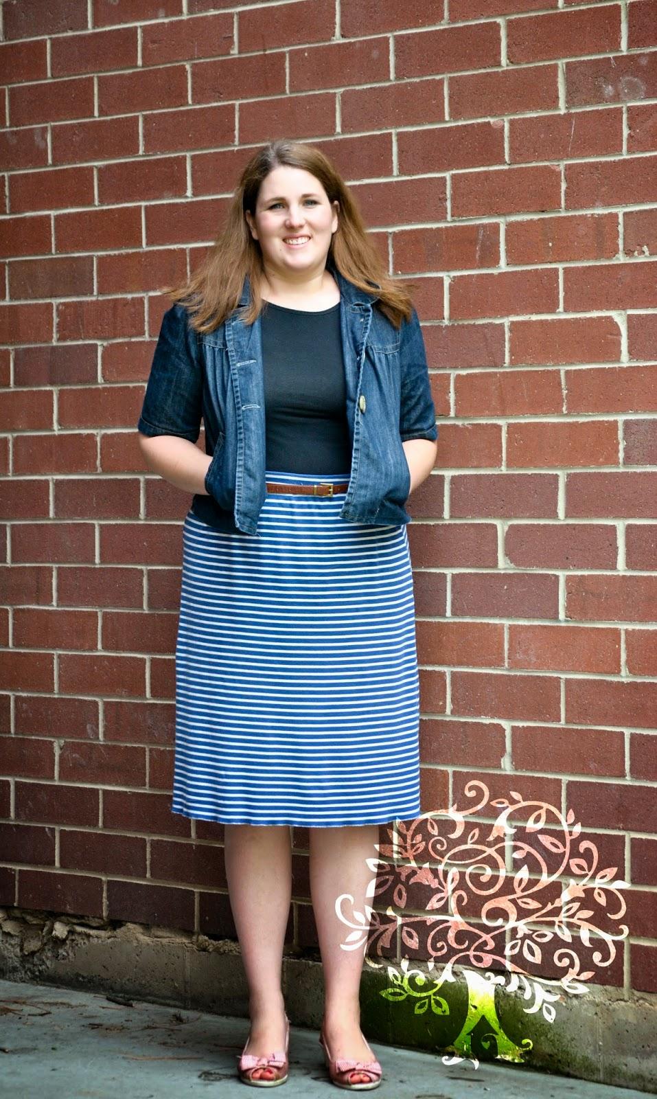 Knit Midi Skirt Tutorial & The Reasons Why I don\'t wear Maxi Skirts ...