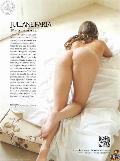 fotos de Juliane Faria nua e pelada na Revista Sexy